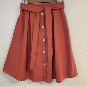 50% OFF See You Monday linen blend A line skirt